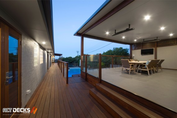 ACT Decks - Franklin - Home with outdoor deck and swimming pool