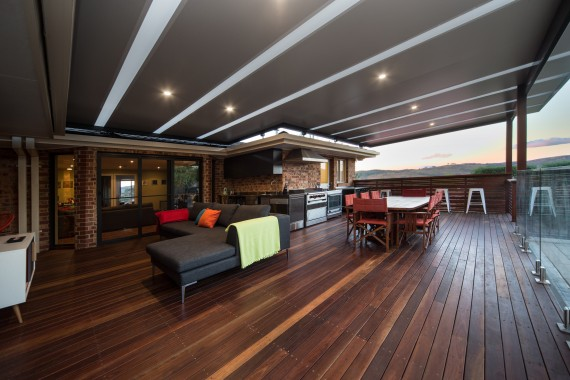 ACT Decks - Calwell - Outdoor with Lexan Thermo-Clear sheets roof