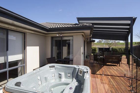 ACT Decks - Franklin - Home with outdoor deck and jacuzzi